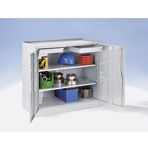 Szafa na narzędzia,z 2 szufladami, 2 półkami na całej szerokości marki Quipo