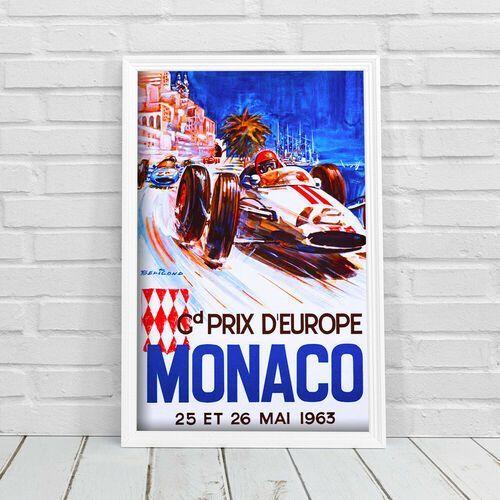 Plakat vintage do salonu plakat vintage do salonu grand prix d'europe monaco marki Vintageposteria.pl