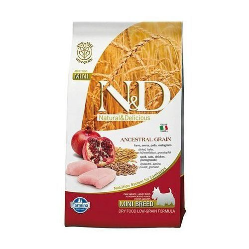 Farmina Nd low grain mini adult 7kg chicken pomegranate natural & delicious n&d