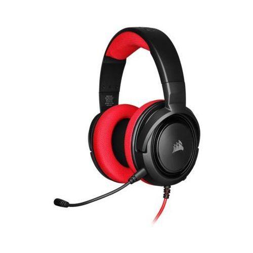 Zestaw słuchawkowy CORSAIR HS35 Czerwony (0840006609063)