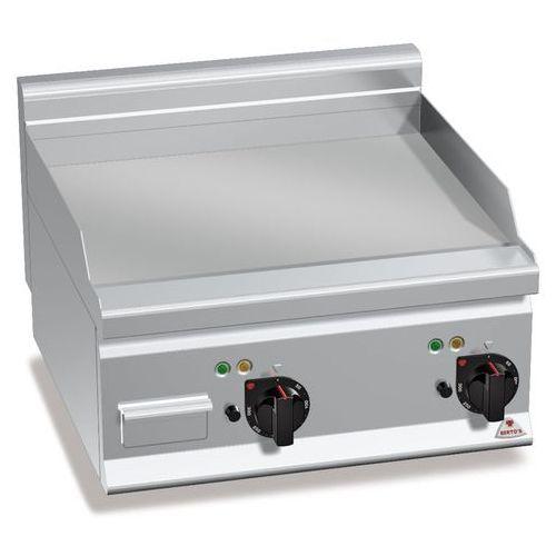 Płyta grillowa, elektryczna, ze stali chromowanej, gładka, nastawna, 8 kW, 600x600x290 mm   BERTO'S, Plus 600, POWERED HARD CHROME, E6FL6BP-2/CR