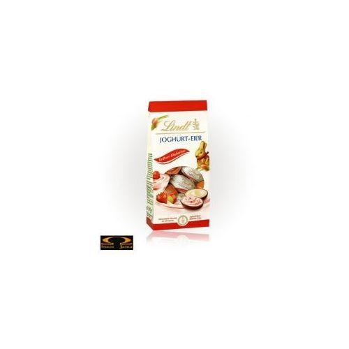 Lindt Czekoladki  joghurt-eier z truskawką i rabarbarem 80g (4000539621109)