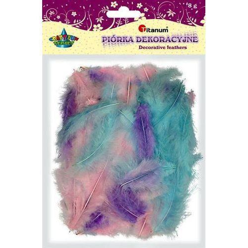 Kolorowe pióra dekoracyjne, 8g różowe, CRAFT-FUN - różowe+fioletowe+niebieskie (5907437676783)