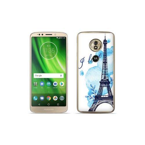 etuo Fantastic Case - Motorola Moto G6 Play - etui na telefon Fantastic Case - niebieska wieża eiffla, ETMT716FNTCFC107000