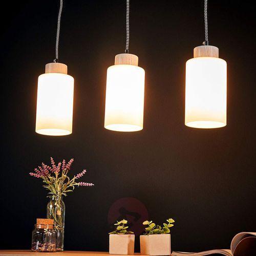 Spot-light bosco lampa wisząca dąb bielony/czarno-biały 3xe27-60w 1714332 (5901602337875)