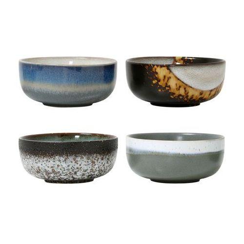 zestaw 4 mis ceramicznych 70's m - hk living ace6033 marki Hk living