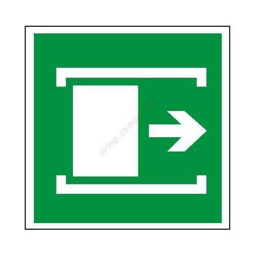 Znak Przesunąć w celu otwarcia z kategorii Znaki informacyjne i ostrzegawcze