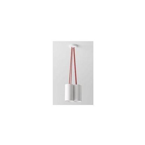 lampa wisząca CERTO B4B z pomarańczowymi przewodami, CLEONI 1291B4B+