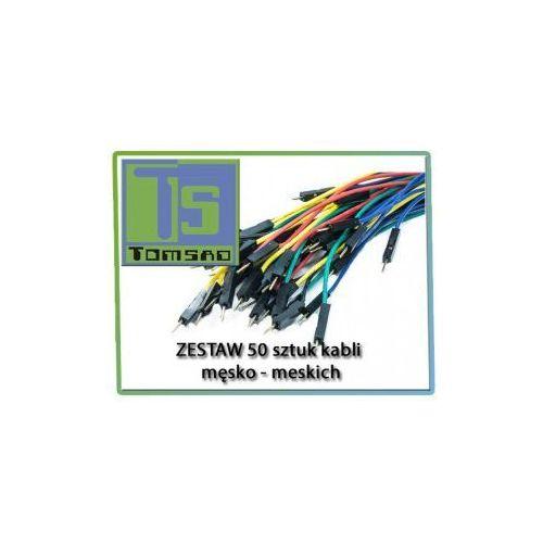 Tomsad Zestaw 50szt kabli połączeniowych męsko-męskie 30cm