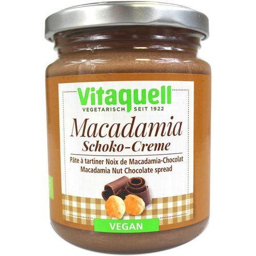 Masło czekoladowe z orzechami macadamia VEGAN BIO 250g - Vitaquell (4003247201212)