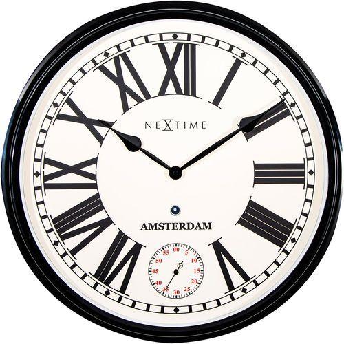 Zegar ścienny Amsterdam Nextime 51,6 cm (3128 ZW) (8717713015307)