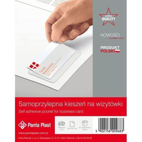 Kieszenie samoprzylepne PVC na wizytówki 60 X 100 mm PANTA PLAST - X02930, NB-5477