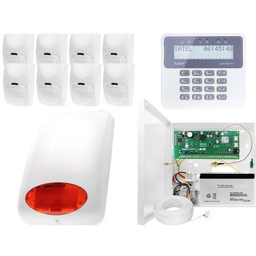Alarm do domu, sklepu, firmy, magazynu z powiadomieniem GSM: Płyta główna Perfecta 16 + Manipulator PRF-LCD + 8x Czujnik ruchu + Akcesoria, ZA10990