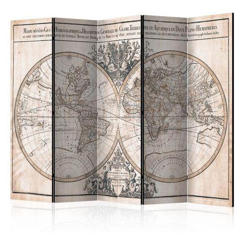 Parawan 5-częściowy - mappe-monde geo-hydrographique [parawan] marki Artgeist
