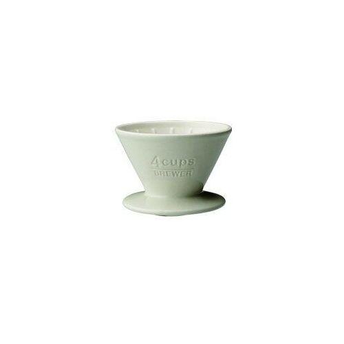 KINTO SLOW COFFEE STYLE DRIPPER CERAMICZNY BIAŁY 4 FILIŻANKI (4963264497107)