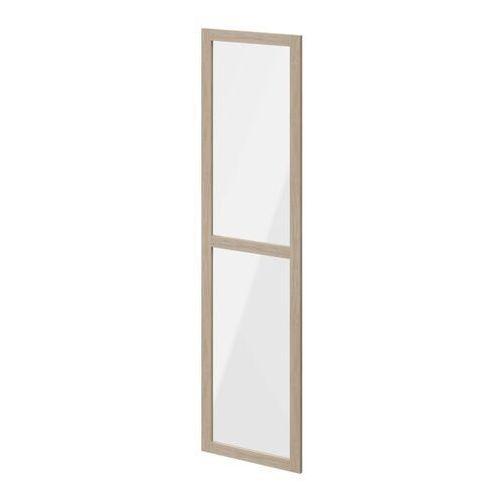 Drzwi do korpusu 50 x 187,5 cm GoodHome Atomia dąb/szkło transparentne
