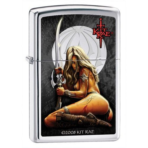 Zapalniczka Zippo Kit Rae Wild Sword, High Polish Chrome