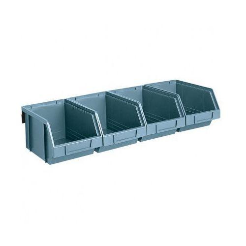 Stalowe listwy z pojemnikami, 4x pojemnik 146x237x124 mm (8010693005901)