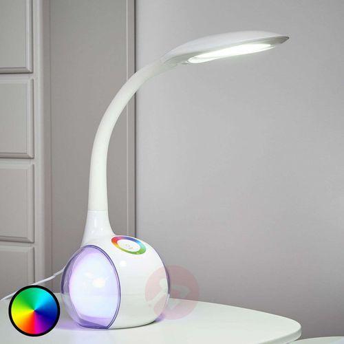 Globo TARRON lampa stołowa LED Biały, Przezroczysty, 3-punktowe - Design - Obszar wewnętrzny - TARRON - Czas dostawy: od 4-8 dni roboczych