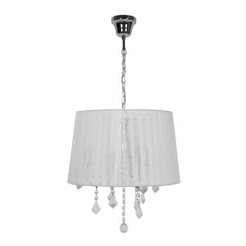 Lampa wisząca hovland 3-punktowa e14 chrom / biała marki Goodhome