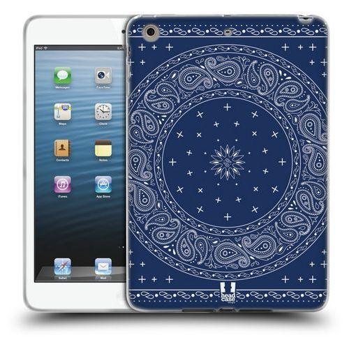 Etui silikonowe na tablet - Classic Paisley Bandana Round Blue, kolor niebieski