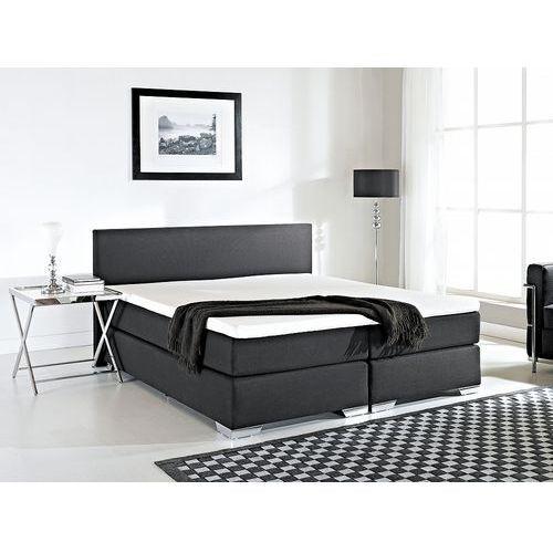 Łóżko kontynentalne 180x200 cm - Łóżko tapicerowane - PRESIDENT czarne (7081454154801)