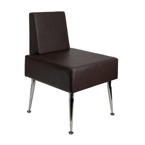 Activeshop Gabbiano fotel do poczekalni d-23 brązowy