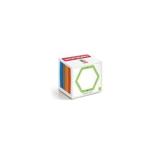 Klocki magnetyczne 3D Magformers Sześciokąty 12 elementów. Darmowy odbiór w niemal 100 księgarniach!