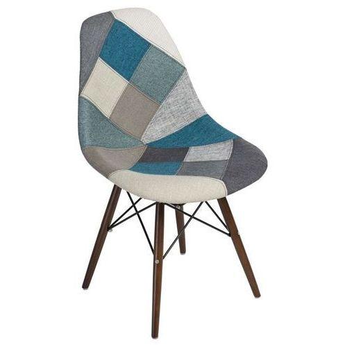 Krzesło P016W Patchwork inspirowane DSW dark - niebieski ||szary (5902385722681)