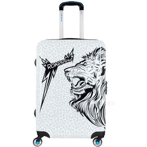 urbe średnia walizka na 4 kółkach / 67 cm / roar - czarny ||biały marki Bg berlin