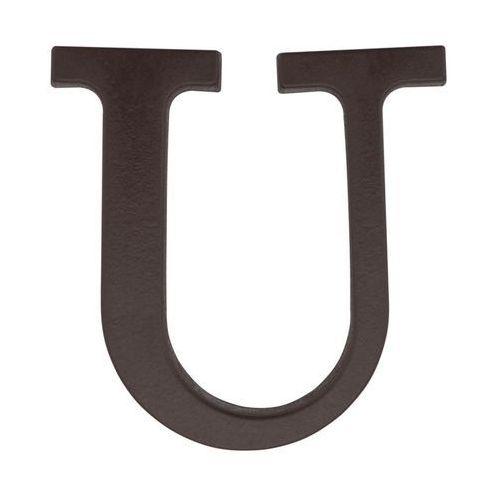 Litera U wys. 9 cm PVC brązowa