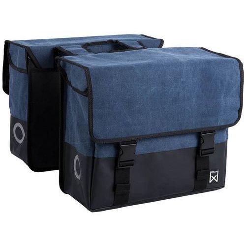Willex torba rowerowa na gazety, płótno, 40 l, niebieski, matowa czerń (5425023134252)