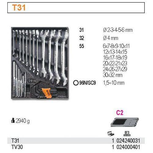 Wkład profilowany twardy z zestawem narzędzi, 27 elementów, model 2424/t31 wyprodukowany przez Beta