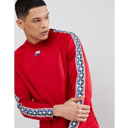 long sleeve top with taped side stripe in red aj2298-687 - red marki Nike