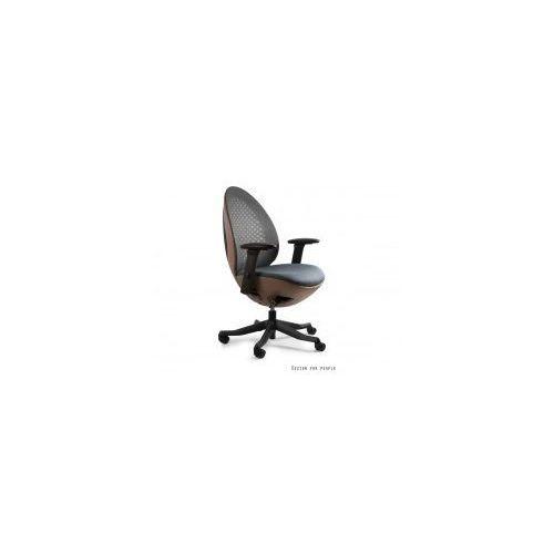 Krzesło biurowe Ovo czarno- brązowe, W-667T-BL418