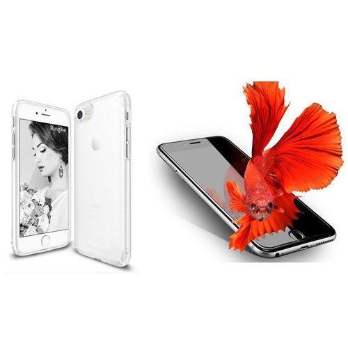 Zestaw | rearth ringke slim frost white | obudowa + szkło ochronne perfect glass dla modelu apple iphone 7 marki Rearth / perfect glass