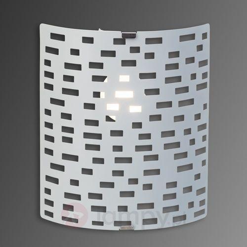 Lampa ścienna Brilliant Melville 94429/05, E14, (DxSxW) 18.5 x 10 x 22 cm, biały
