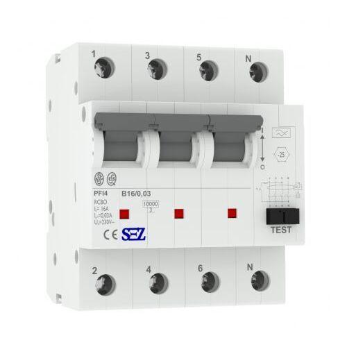 Sez B16 30ma 4p 10ka wyłącznik różnicowoprądowy z członem nadprądowym 0090903 rcbo 9951 (8585032639951)