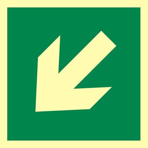 """Znak ewakuacyjny """"kierunek drogi ewakuacyjnej"""" marki Top design"""