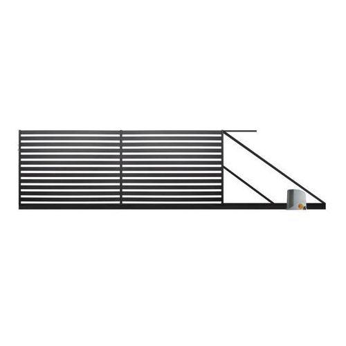 Polbram steel group Brama przesuwna z automatem lara 2 4 x 1,54 m czarna prawa