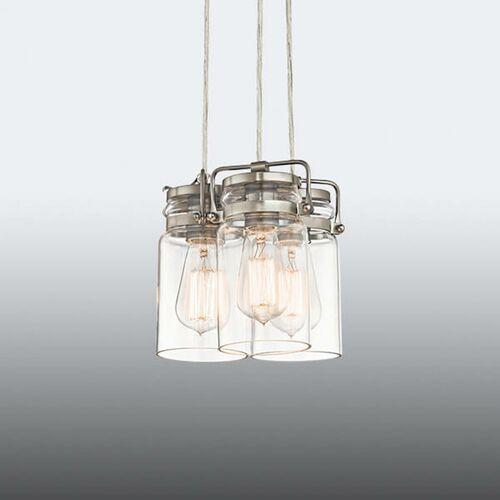 Lampa wisząca brinley3 ni kl/brinley3 ni - lighting - rabat w koszyku marki Elstead