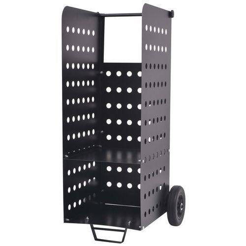 vidaXL Wózek na drewno kominkowe z plastikowymi kołami, 36x42x105 cm (8718475522089)