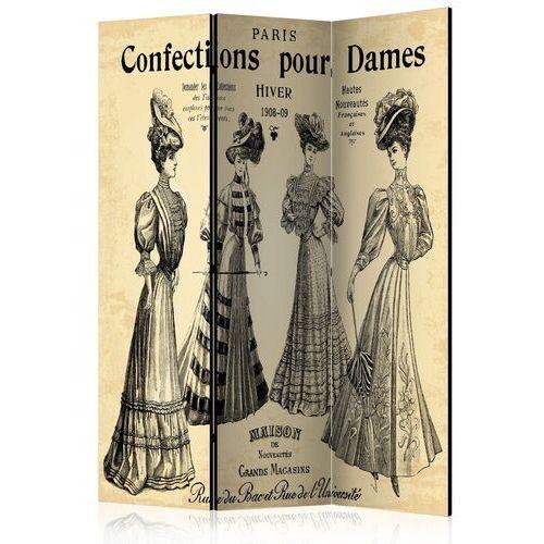 Parawan 3-częściowy - confections pour dames [room dividers] marki Artgeist