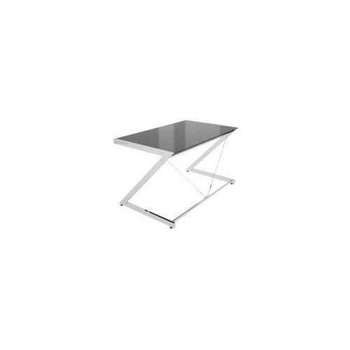 Biurko Z-Line - Chrom - Computer Desk Black blat czarne szkło, 816-02-B-C