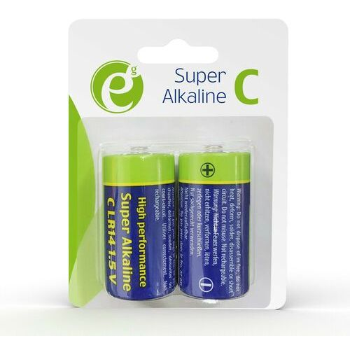 Gembird Bateria alkaliczna energenie eg-ba-lr14-01 lr14 (typ c) 1,5v (2 szt.)