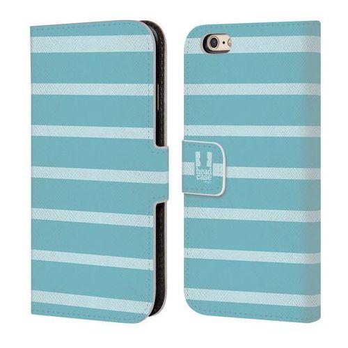 Etui portfel na telefon - paski jasne niebieskie marki Head case