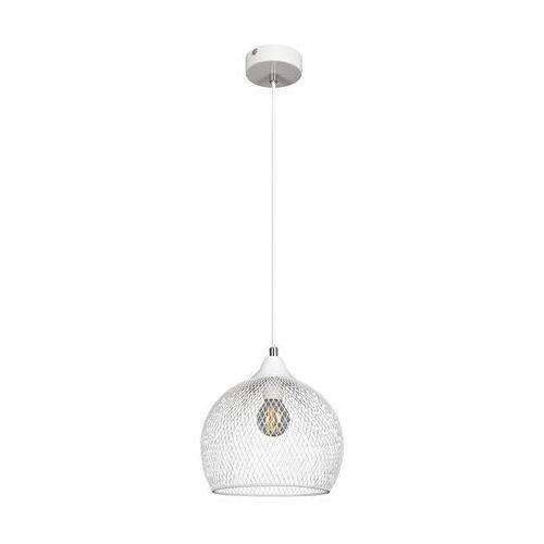 LAMPA wisząca RONAN 7602 Rabalux metalowa OPRAWA loftowy ZWIS ażurowa siatka biały (5998250376028)