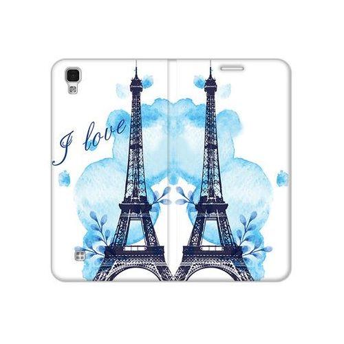 LG X Power - etui na telefon Flex Book Fantastic - niebieska wieża eiffla