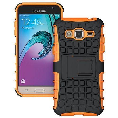 Perfect Armor Pomarańczowy | Pancerna obudowa etui dla Samsung Galaxy J1 2016 - Pomarańczowy, kolor pomarańczowy