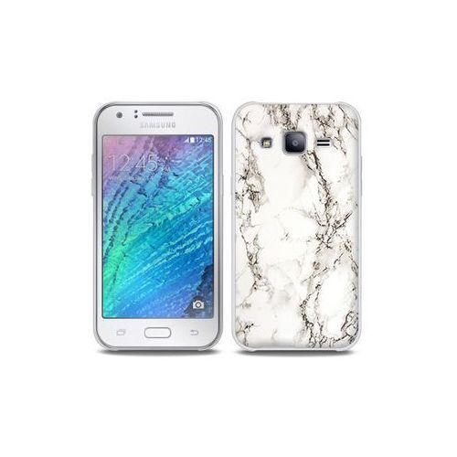 Samsung galaxy j5 - etui na telefon full body slim fantastic - biały marmur marki Etuo full body slim fantastic